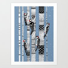 Woodpeckers Art Print