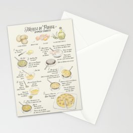 Tortilla de patatas recipe in English Stationery Cards