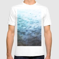 Water MEDIUM Mens Fitted Tee White