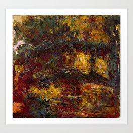 Claude Monet - The Japanese Footbridge, Giverny.jpg Art Print