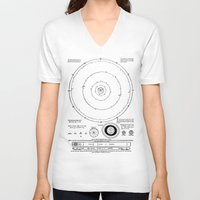 solar system V-neck T-shirts featuring Solar System by Public Demesne