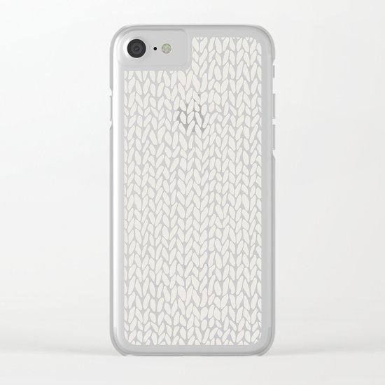 Hand Knit Grey Clear iPhone Case
