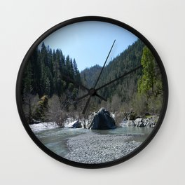 Gorgeous day in the mountains... Wall Clock