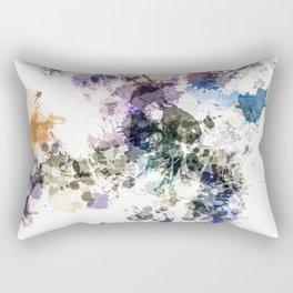 """Oops"" Pastel Paint  Splatter Abstract Rectangular Pillow"