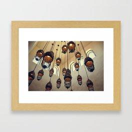Hanging Moroccan Lamps Framed Art Print