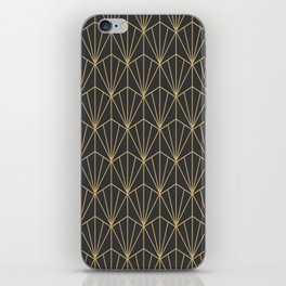 Art Deco Vector in Charcoal and Gold iPhone Skin