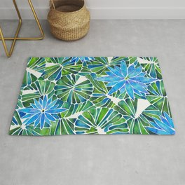 Water Lilies – Blue & Green Palette Rug