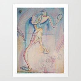 Tennis  Player cartoon Art Print