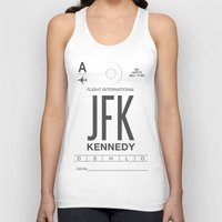 jfk Tank Tops featuring JFK TAG  by Studio Tesouro