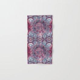 Vintage Boho Burgundy Mandala Hand & Bath Towel