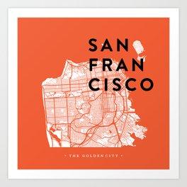 San Francisco Map 04 Art Print