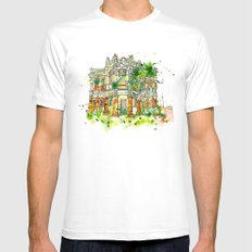 1930's MEDIUM Mens Fitted Tee White