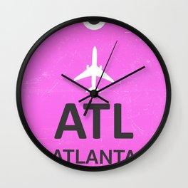 Airport code Atlanta Wall Clock