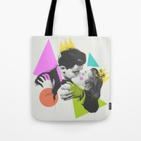kiss Tote Bags featuring Kiss by Zeke Tucker