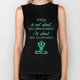 Makes a great gift Tee Acceptance Design Meditation Biker Tank