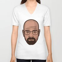 walter white V-neck T-shirts featuring Walter White by Michael Walchalk
