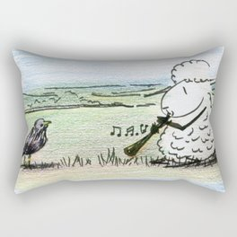 Too Many Captions to Choose From Rectangular Pillow