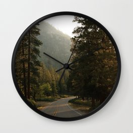 The Road to Kings Canyon Wall Clock