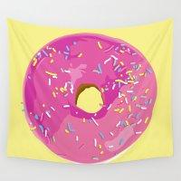 donut Wall Tapestries featuring donut by Britt Mansouri