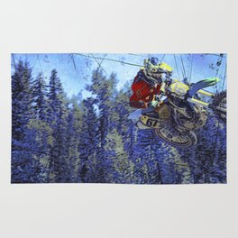 Motocross Dirt-Bike Championship Race Rug