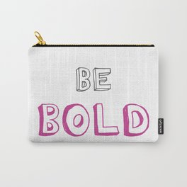 Be Bold Pink/Grey Carry-All Pouch