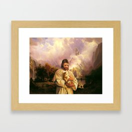 The Cat of Christ Framed Art Print