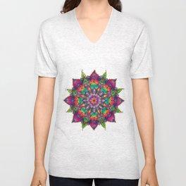 Coloured Mandala Unisex V-Neck