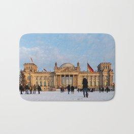 Snowy Reichstag, Berlin, Bath Mat