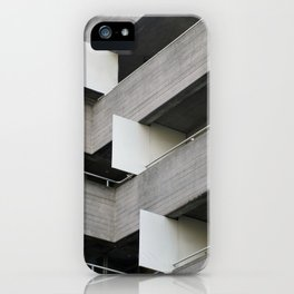 brutalist angles - national theatre london iPhone Case