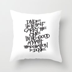 Divide Us Throw Pillow