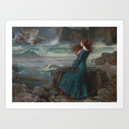 John William Waterhouse - Miranda Art Print