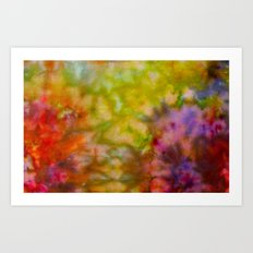 Burgundy and Olive Abstract Art Print
