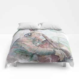 Doulbe bass player Comforters