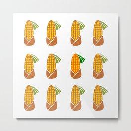 Clockwork Corn Metal Print