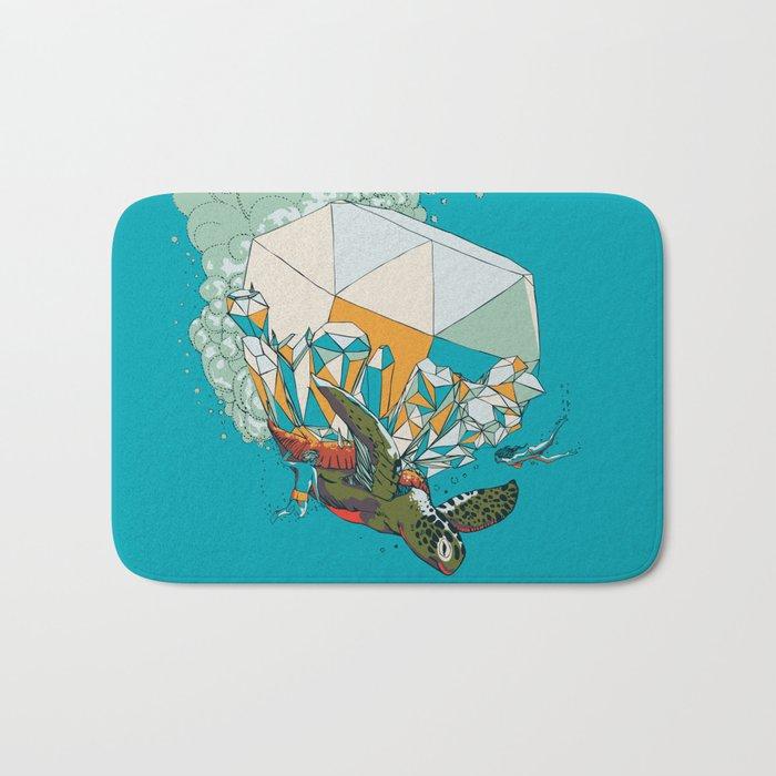 TURTLE& THE DIAMONDS Bath Mat