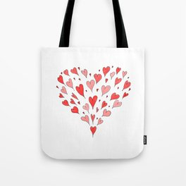 Loose Hearts Tote Bag