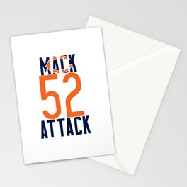 Khalil Mack 52 Bears Footbal Stationery Cards