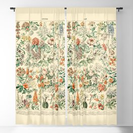 Wildflowers and Roses // Fleurs III by Adolphe Millot 19th Century Science Textbook Artwork Blackout Curtain