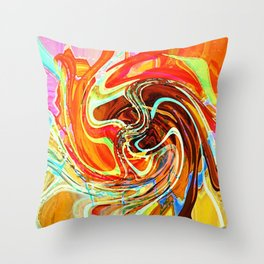 """ The beauty pleases eyes, the sweetness charms the art! ""  Throw Pillow"