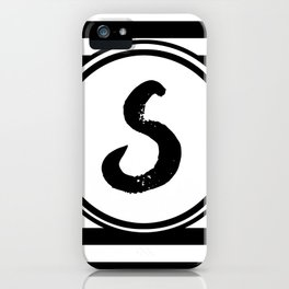 S Striped Monogram Letter iPhone Case