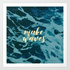 Make Waves in Gold Art Print