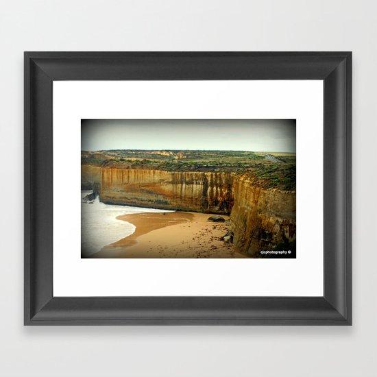 Gigantic limestone Cliffs Framed Art Print