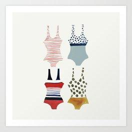 la nage Art Print