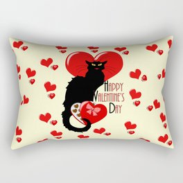 Le Chat Noir with Chocolate Candy Gift Rectangular Pillow