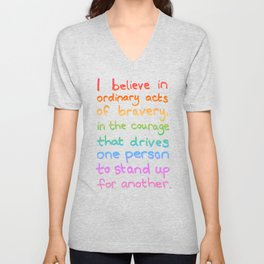 Ordinary Acts of Bravery - Divergent Quote Unisex V-Neck