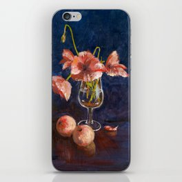 Apples and Poppies iPhone Skin