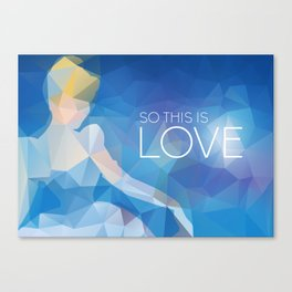 Cinderella: So This Is Love Canvas Print