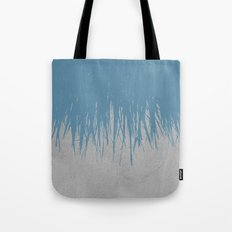 Concrete Fringe Blue Tote Bag