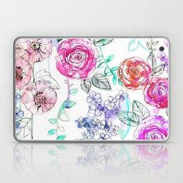 Pastel Rose Garden 02 Laptop & iPad Skin