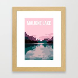 Maligne Lake - Cananda Framed Art Print
